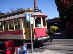 Portland historic replica streetcar