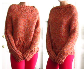 Lace Leaf Pullover 2