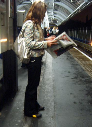 Metallic Bag Woman