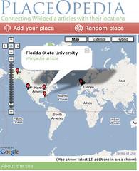 PlaceOpedia Google mashup of the wiki