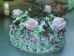 cake yg dihias dgn over nye oleh amatur2