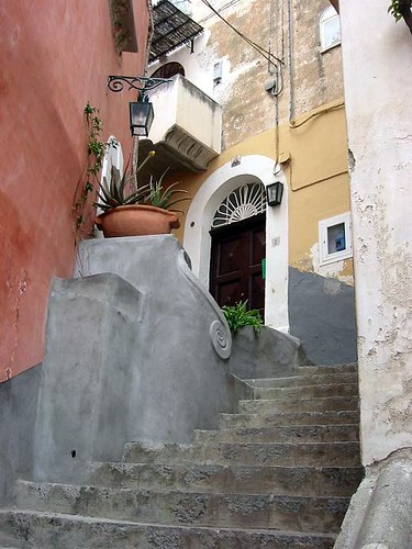 Stairs and door positano