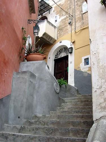 Stairs and door positano