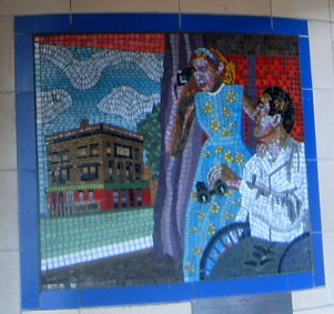 Hitchcock Leytonstone London Underground Mosaics - James Stewart