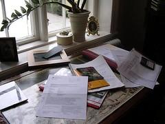Skrivbordet liten