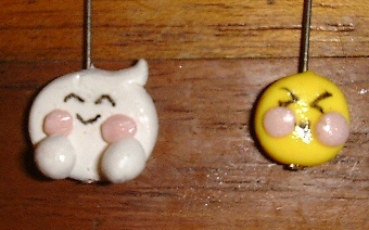 emoticon earrings