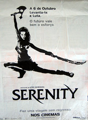 Serenity Poster in Lisbon Streets