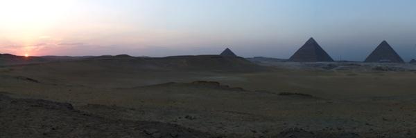 Sunset and Pyramids