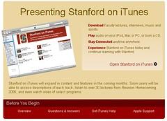 Stanford iTunes
