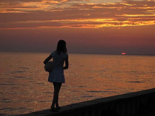 Girl at Sunset, Lake Pontchartrain