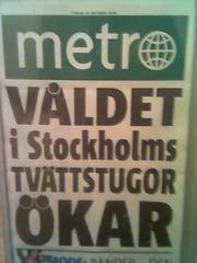 Våldet i Stockholms tvättstugor ökar