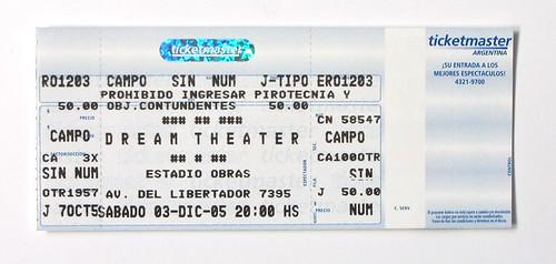 Dream Theater ticket
