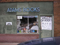 storefront of Adams Walls of Books
