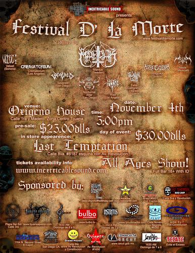 flyer del festival
