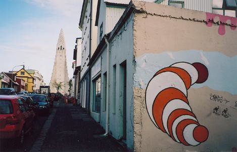 Larva-esque wall art