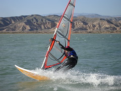 Manuel windsurfing in Rodeo