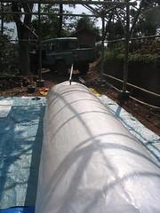 Gambar 22: Dibutuhkan sekitar 5 menit untuk memompa kantung plastik 5000 liter.