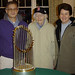 Constance Hartwell with World Series Trophy Tour Stops in Duxbury: