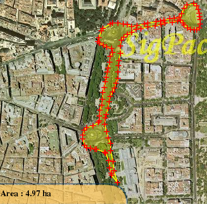 Área ocupada en la manifestación (1ª estimación)