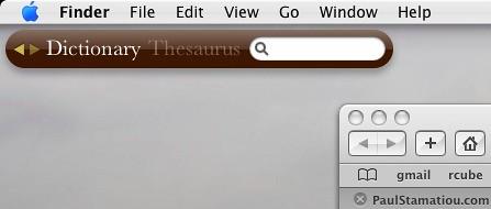 widget on desktop