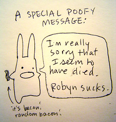 special poofy message