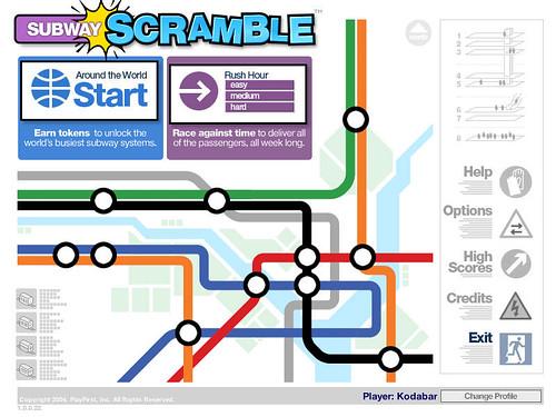 Subway Scramble - Game Screengrab