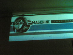 Logoprojektion - Riesenmaschine