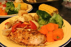 Marinated Roast Chicken Meal