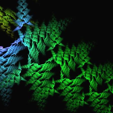Blue Green Weave