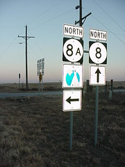Highway 8 and Cheyenne ~Arapaho Trail Sign