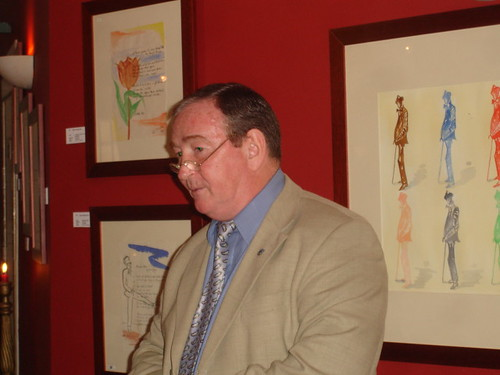 Speaking about James Joyce at the opening of a recent exhibition.