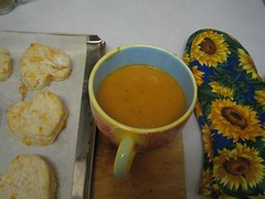 Potato and carrot soup