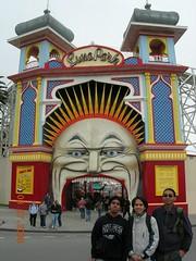 Luna Park kat St Kilda Beach, Melbourne, Australia