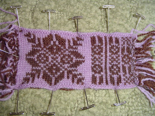 Vertical Stripes gauge swatch