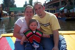 family on trajinera