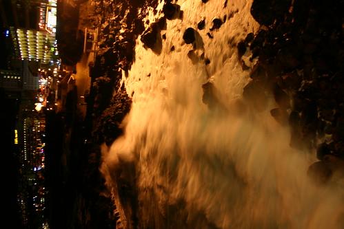 Waves splashing, Puerto de la Cruz esplanade
