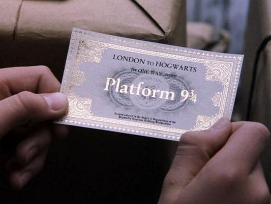 Harry Potter Platform 9 3/4 ticket