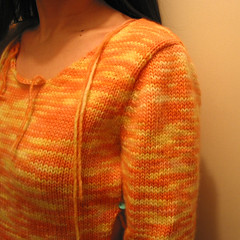 Creamsicle T - puffy sleeve
