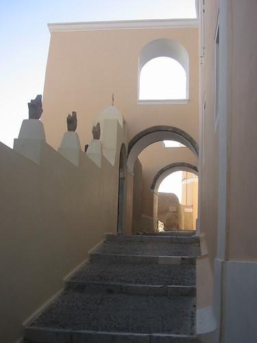 Street in Fira, Santorini