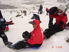 Bermain Toboggan Kat Ski Resort Perisher Blue, Snowy Mountains, Australia