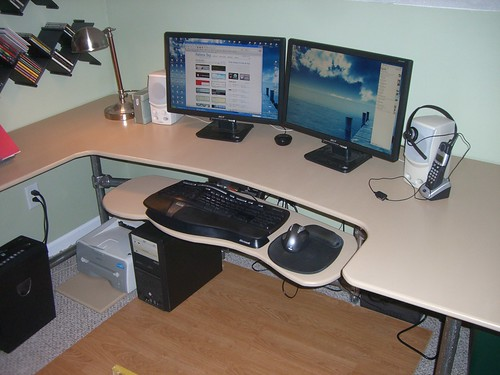 Finished Ergonomic Desk