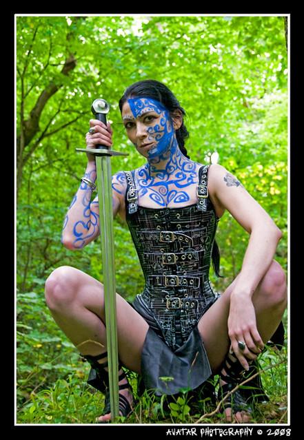 Traditional Blue Scottish War Paint