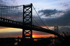 Benjamin Franklin Bridge at Sunrise - Philadelphia photo by anadelmann