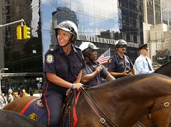 Toronto Mounted Police at Ground Zero, New York photo by Meerkat Thunderpants