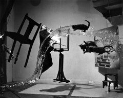 Making of Dali Atomicus (Salvador Dalí A) by Philippe Halsman, 1948