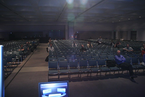 The view from the podium
