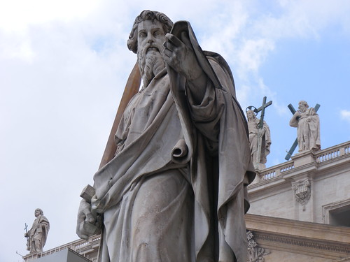Day 5 02102008 St Peter statue in front of St Peters Basilica 2 Vatican City