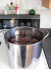 big pot on the stove...