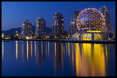 Blue hour falls over False Creek photo by Eric Flexyourhead (Trying to catch up!)