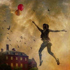 fly me with balloons photo by Chopak